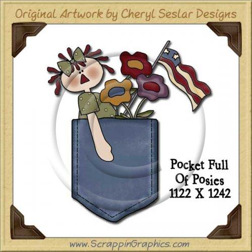 Pocket Full Of Posies Single Graphics Clip Art Download