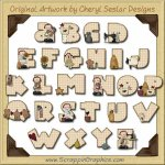 Annie's Life Alphabet & Numbers Clip Art Graphics