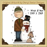 Noah & Ned Single Graphics Clip Art Download
