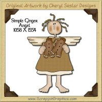 Simple Ginger Angel Single Graphics Clip Art Download
