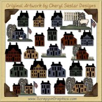 American Saltbox Collection Clip Art Download