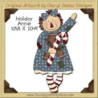 Holiday Annie Single Clip Art Graphic Download