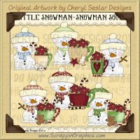 Little Snowman Soup Limited Pro Clip Art Graphics