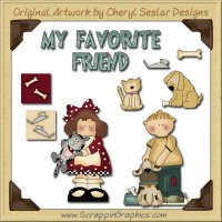 My Favorite Friend Collection Graphics Clip Art Download