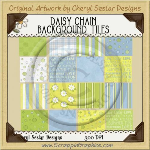 Daisy Chain Background Tiles Clip Art Graphics