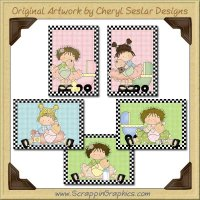 Little Mama Beauty Cards Collection Printable Craft Download