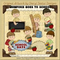 Mumford Goes To School Limited Pro Clip Art Graphics
