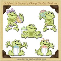 Fat Baby Frogs Limited Pro Graphics Clip Art Download