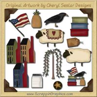 Prim Gatherings CD Collection Graphics Clip Art Download