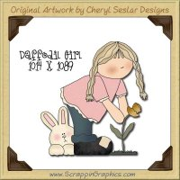 Daffodil Girl Single Graphics Clip Art Download