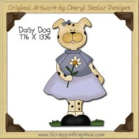Daisy Dog Single Clip Art Graphic Download