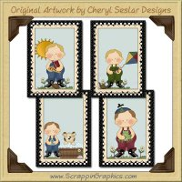 Boys Will Be Boys Card Sampler Printable Craft Download