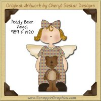 Teddy Bear Angel Single Graphics Clip Art Download
