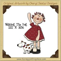 Walking The Dog Single Graphics Clip Art Download