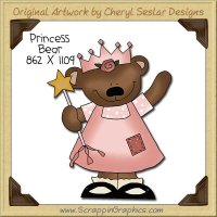Princess Bear Single Clip Art Graphic Download