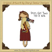 Prim Girl Two Single Clip Art Graphic Download