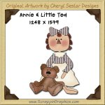 Annie & Little Ted Single Graphics Clip Art Download