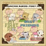 Bouncing Babies First Pet Limited Pro Clip Art Graphics
