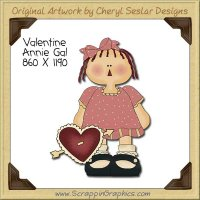 Valentine Annie Gal Single Clip Art Graphic Download