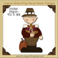 Mister Pilgrim Single Clip Art Graphic Download