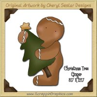 Christmas Tree Ginger Single Graphics Clip Art Download