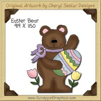 Easter Bear Single Clip Art Graphic Download