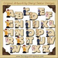 All Grown Up Alphabet & Numbers Clip Art Graphics