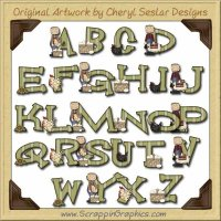 Baxter Basic Alphabet & Numbers Clip Art Graphics