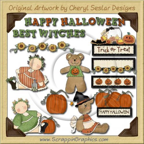 Country Wishes Halloween Limited Pro Graphics Clip Art Download
