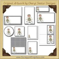 On A Cloud Printable Pack Graphics Clip Art Download