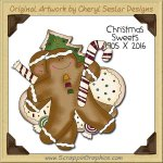 Christmas Sweets Single Clip Art Graphic Download