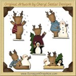 Cute Little Reindeer Graphics Clip Art Download