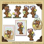 Raggedy Bears Easter Graphics Clip Art Download