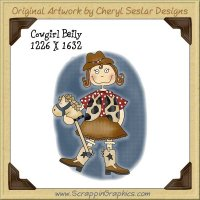 Cowgirl Bailey Single Graphics Clip Art Download