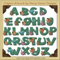 Tropical Fish Alphabet & Numbers Clip Art Download