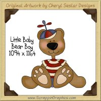 Little Baby Bear Boy Single Graphics Clip Art Download