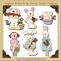 Some Bunny to Love Collection Graphics Clip Art Download