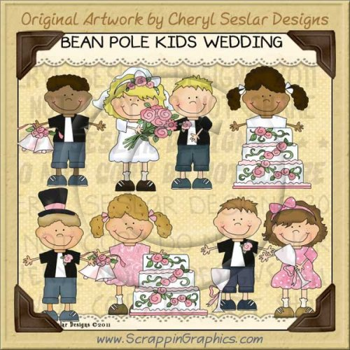 Bean Pole Kids Wedding Limited Pro Clip Art Graphics