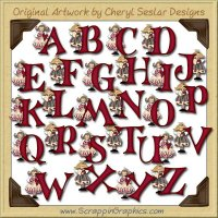 Valentine Angel Alphabet & Numbers Clip Art Download