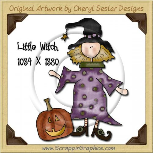 Little Witch Single Graphics Clip Art Download