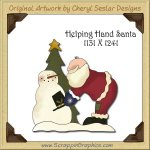 Helping Hand Santa Single Graphics Clip Art Download