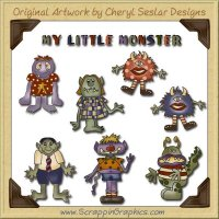 Little Monsters Collection Graphics Clip Art Download