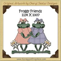 Froggy Friends Single Graphics Clip Art Download