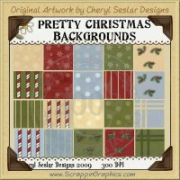 Pretty Christmas Background Tiles Clip Art Graphics