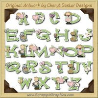 Cutie Pie Alphabet & Numbers Clip Art Download