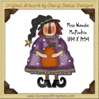Miss Wanda McPunkin Single Graphics Clip Art Download