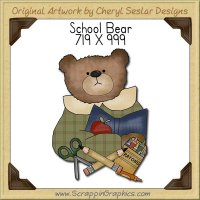 School Bear Single Graphics Clip Art Download