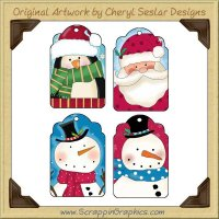 Silly Christmas Tags Collection Printable Craft Download