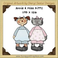 Annie & Miss Kitty Single Graphics Clip Art Download