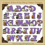Cute N Scary Alphabet & Numbers Clip Art Download
